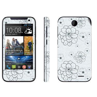 Snooky 41379 Digital Print Mobile Skin Sticker For HTC Desire 310 - Grey
