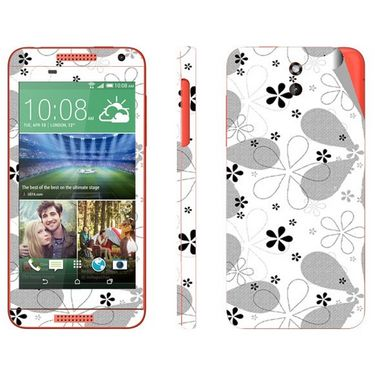 Snooky 41394 Digital Print Mobile Skin Sticker For HTC Desire 610 - White