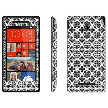 Snooky 41424 Digital Print Mobile Skin Sticker For HTC 8X C620E - White