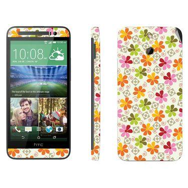 Snooky 41468 Digital Print Mobile Skin Sticker For HTC One E8 - White
