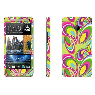Snooky 41485 Digital Print Mobile Skin Sticker For HTC One M7 - multicolour