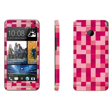 Snooky 41487 Digital Print Mobile Skin Sticker For HTC One M7 - Purple