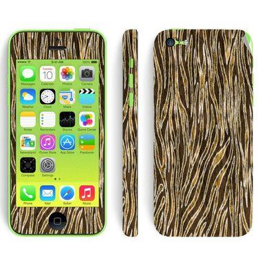 Snooky 41525 Digital Print Mobile Skin Sticker For Apple Iphone 5C - Brown