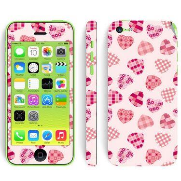 Snooky 41530 Digital Print Mobile Skin Sticker For Apple Iphone 5C - White