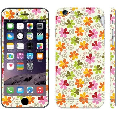 Snooky 41538 Digital Print Mobile Skin Sticker For Apple Iphone 6 - White