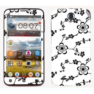 Snooky 41574 Digital Print Mobile Skin Sticker For Lenovo A850 - White