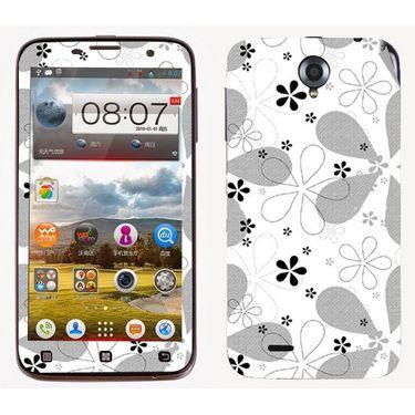 Snooky 41576 Digital Print Mobile Skin Sticker For Lenovo A850 - White