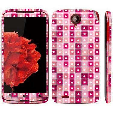 Snooky 41587 Digital Print Mobile Skin Sticker For Lenovo S820 - Pink