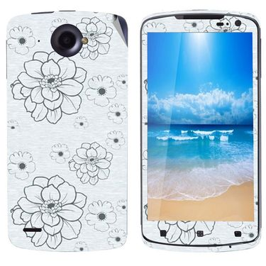 Snooky 41603 Digital Print Mobile Skin Sticker For Lenovo S920 - Grey