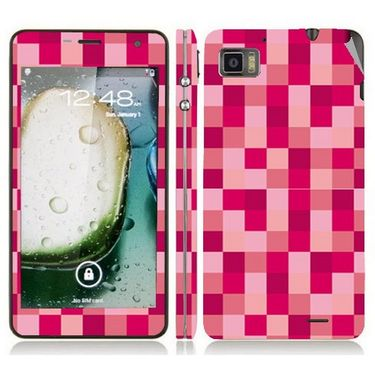Snooky 41613 Digital Print Mobile Skin Sticker For Lenovo K860 - Purple