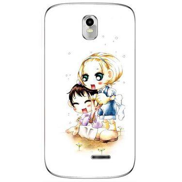 Snooky 41644 Digital Print Mobile Skin Sticker For Lava Iris 402 Plus - White