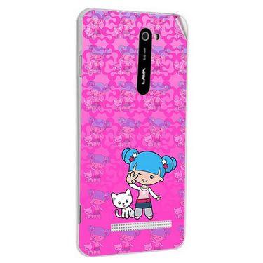 Snooky 41690 Digital Print Mobile Skin Sticker For Lava Iris 503 - Pink