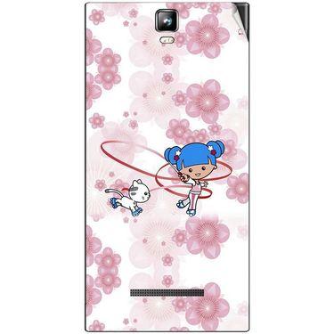 Snooky 41703 Digital Print Mobile Skin Sticker For Lava Iris 504Q Plus - White