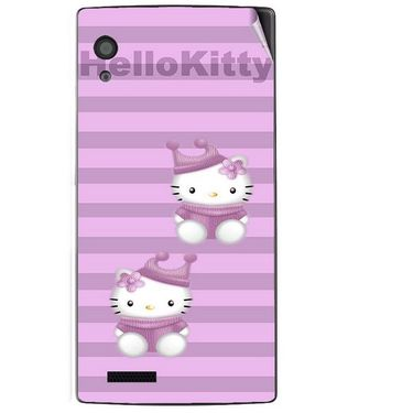 Snooky 41709 Digital Print Mobile Skin Sticker For Lava Iris Fuel 60 - Pink