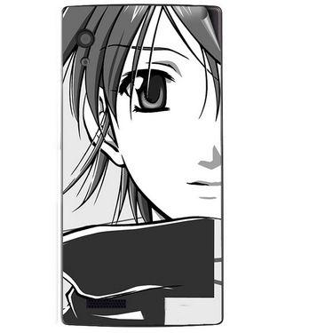 Snooky 41713 Digital Print Mobile Skin Sticker For Lava Iris Fuel 60 - Grey