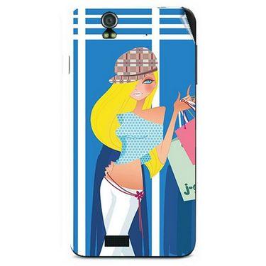 Snooky 41717 Digital Print Mobile Skin Sticker For Lava Iris selfie 50 - Blue