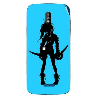 Snooky 41748 Digital Print Mobile Skin Sticker For Lava Iris 450 - Blue