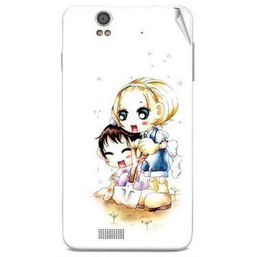 Snooky 41812 Digital Print Mobile Skin Sticker For Lava Iris X5 - White