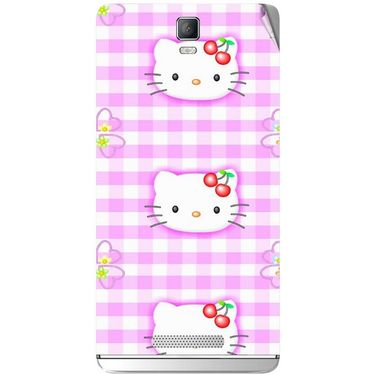 Snooky 41818 Digital Print Mobile Skin Sticker For Lava Iris Fuel 50 - Pink