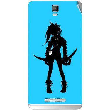 Snooky 41820 Digital Print Mobile Skin Sticker For Lava Iris Fuel 50 - Blue