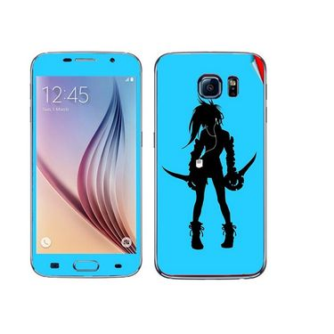 Snooky 41855 Digital Print Mobile Skin Sticker For Samsung Galaxy S6 - Blue