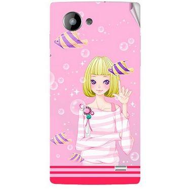 Snooky 41960 Digital Print Mobile Skin Sticker For Intex Aqua HD - Pink