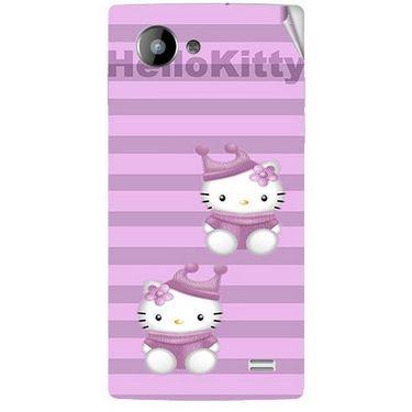 Snooky 41963 Digital Print Mobile Skin Sticker For Intex Aqua HD - Pink