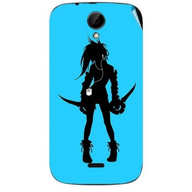 Snooky 41976 Digital Print Mobile Skin Sticker For Intex Aqua i3 - Blue