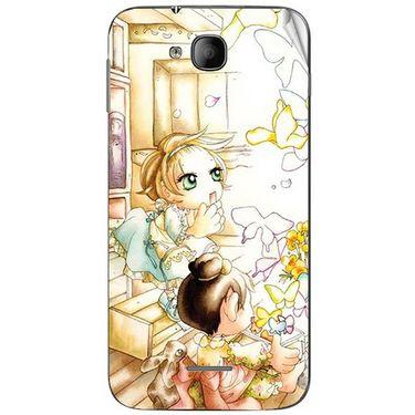 Snooky 41983 Digital Print Mobile Skin Sticker For Intex Aqua i4 - White