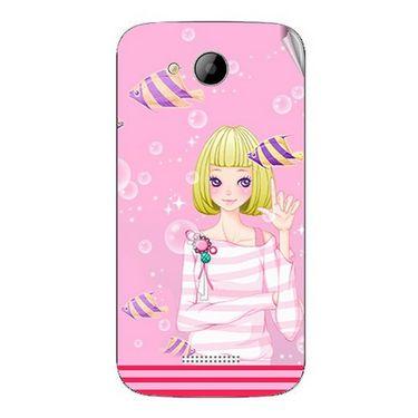 Snooky 41993 Digital Print Mobile Skin Sticker For Intex Aqua i5 - Pink