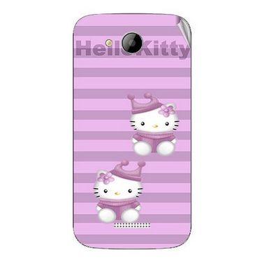 Snooky 41996 Digital Print Mobile Skin Sticker For Intex Aqua i5 - Pink