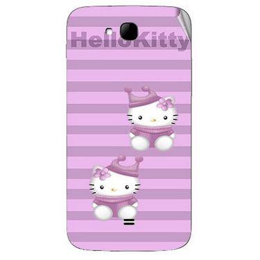 Snooky 42029 Digital Print Mobile Skin Sticker For Intex Aqua i15 - Pink