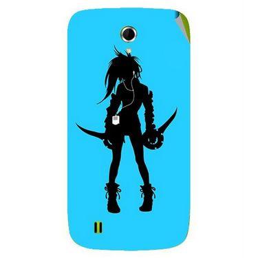 Snooky 42064 Digital Print Mobile Skin Sticker For Intex Aqua N4 - Blue