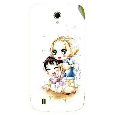 Snooky 42068 Digital Print Mobile Skin Sticker For Intex Aqua N4 - White