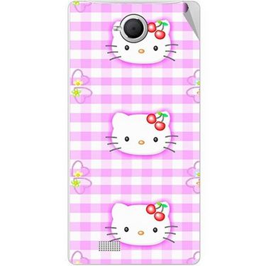 Snooky 42096 Digital Print Mobile Skin Sticker For Intex Aqua N17 - Pink
