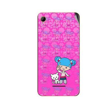 Snooky 42110 Digital Print Mobile Skin Sticker For Intex Aqua Power HD - Pink