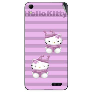 Snooky 42139 Digital Print Mobile Skin Sticker For Intex Aqua Q3 - Pink
