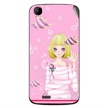Snooky 42158 Digital Print Mobile Skin Sticker For Intex Aqua Speed - Pink