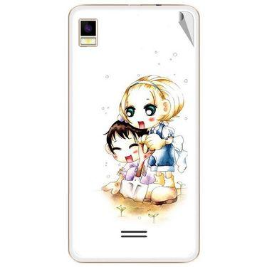 Snooky 42178 Digital Print Mobile Skin Sticker For Intex Aqua Star 5.0 - White