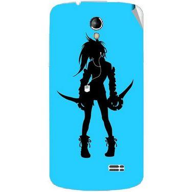 Snooky 42218 Digital Print Mobile Skin Sticker For Intex Aqua SUPERB - Blue