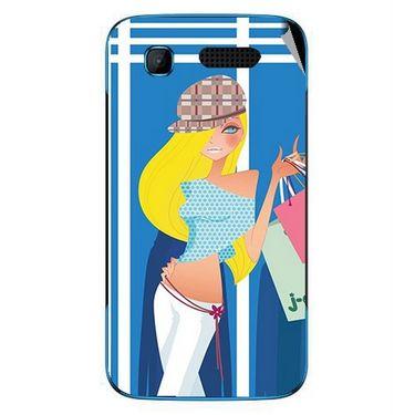 Snooky 42234 Digital Print Mobile Skin Sticker For Intex Aqua T3 - Blue