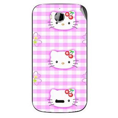 Snooky 42250 Digital Print Mobile Skin Sticker For Intex Aqua Wonder - Pink