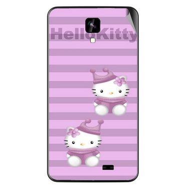 Snooky 42271 Digital Print Mobile Skin Sticker For Intex Aqua Y2 IPS - Pink