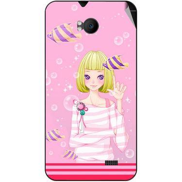 Snooky 42279 Digital Print Mobile Skin Sticker For Intex Aqua Y2 Remote - Pink