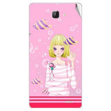 Snooky 42312 Digital Print Mobile Skin Sticker For Intex Aqua I5 HD - Pink