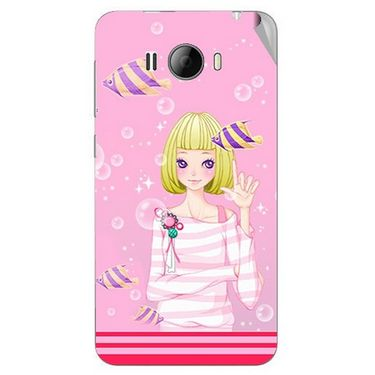Snooky 42323 Digital Print Mobile Skin Sticker For Intex Aqua N15 - Pink