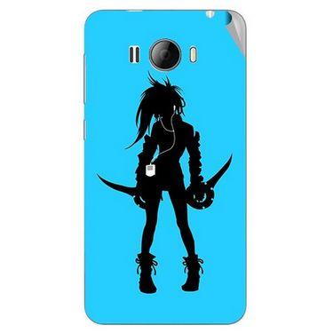 Snooky 42328 Digital Print Mobile Skin Sticker For Intex Aqua N15 - Blue