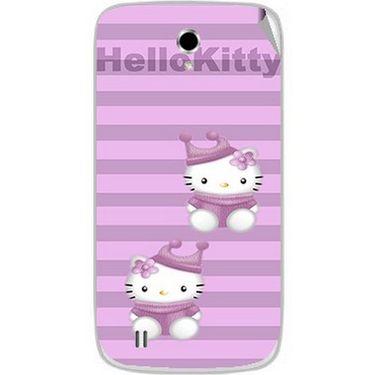 Snooky 42359 Digital Print Mobile Skin Sticker For Intex Cloud Y4 Plus - Pink