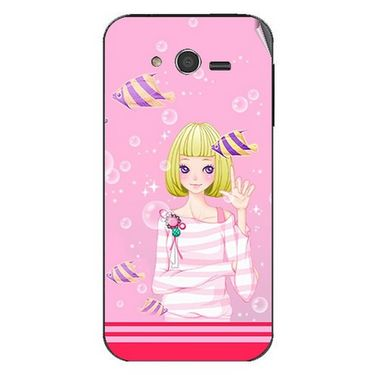 Snooky 42367 Digital Print Mobile Skin Sticker For Intex Cloud Y5 - Pink