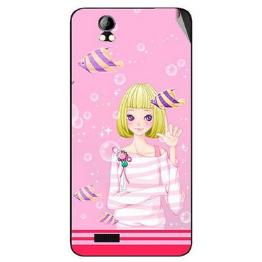 Snooky 42389 Digital Print Mobile Skin Sticker For Intex Aqua Style Pro - Pink